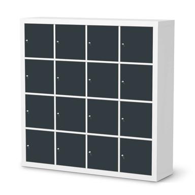 Möbelfolie IKEA Expedit Regal 16 Türen - Blaugrau Dark