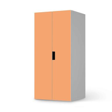 Möbelfolie IKEA Stuva / Malad Schrank - 2 grosse Türen - Orange Light