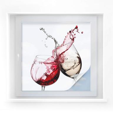 Sichtschutzfolie Weingläser - quadratisch
