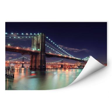 Wallprint Manhattan Bridge at Night 2