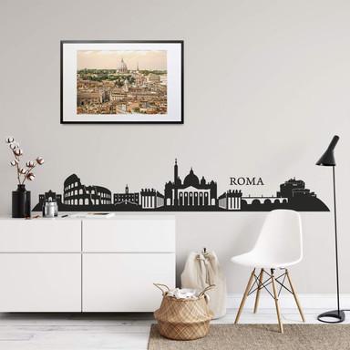 Wandtattoo Roma Skyline