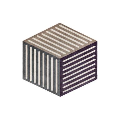 Wash&Dry Decor Fussmatte Puzzle Cube velvet 100x100cm