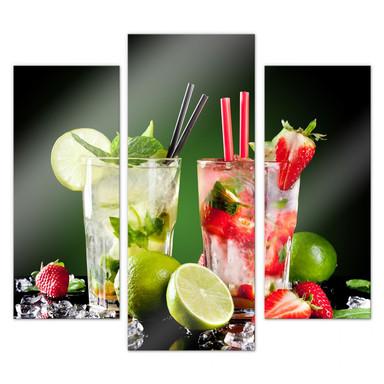Acrylglasbild Cocktail Hour (3-teilig)