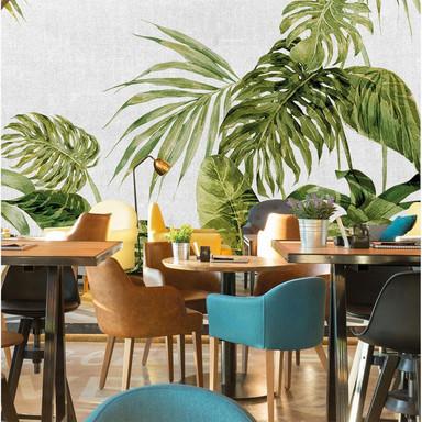 Architects Paper Fototapete Atelier 47 Tropical Leaves Artwork Palmen