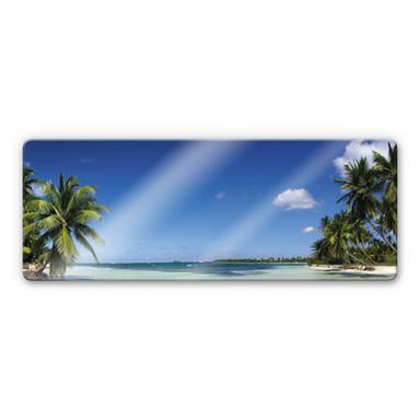 Glasbild Carribean Flair - Panorama