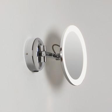 LED 5-fach Vergrösserungs-Kosmetikspiegel Mascali in Chrom 5.3W 76lm IP44