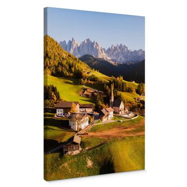 Leinwandbild Colombo - Kleines Dorf in den Dolomiten