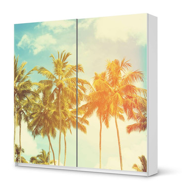 Möbel Klebefolie IKEA Pax Schrank 201cm Höhe - Schiebetür - Sun Flair- Bild 1