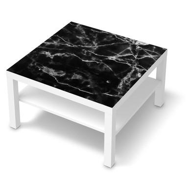 Möbelfolie IKEA Lack Tisch 78x78cm - Marmor schwarz