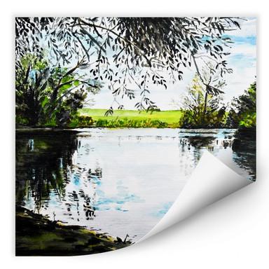 Wallprint Toetzke - Teich im Grünen