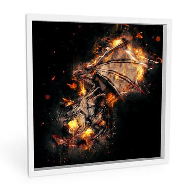 Wandbild Fireflight - quadratisch
