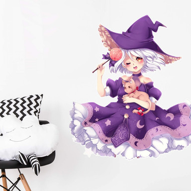 Wandtattoo La Doll Blanche - Little Witch