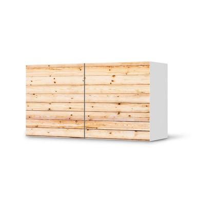 Folie IKEA Besta Regal 2 Türen (quer) - Bright Planks