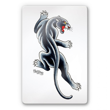 Glasbild Miami Ink Black Panther