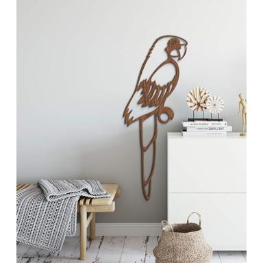 Holzkunst Mahagoni - Papagei