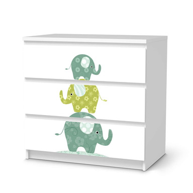 Klebefolie IKEA Malm Kommode 3 Schubladen - Elephants