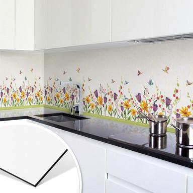 Küchenrückwand - Alu Dibond - Blanz - Blütenpoesie