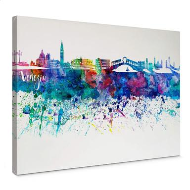 Leinwandbild Bleichner - Venedig Aquarell Skyline