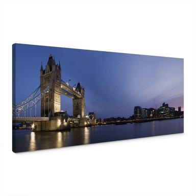 Leinwandbild Tower Bridge an der Themse - Panorama