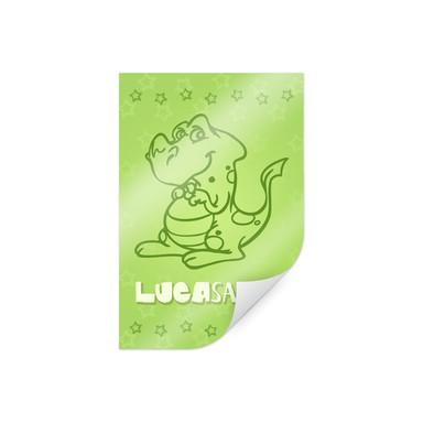 Poster & Wunschtext Dinosaurus