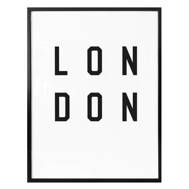 Poster - Typographie London