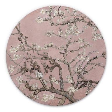 Alu-Dibond van Gogh - Mandelblüte Rosé - Rund