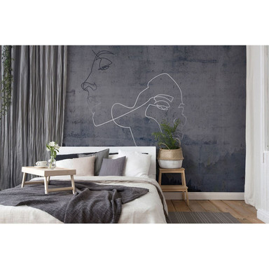 Architects Paper Fototapete Atelier 47 Silver Outline Wald