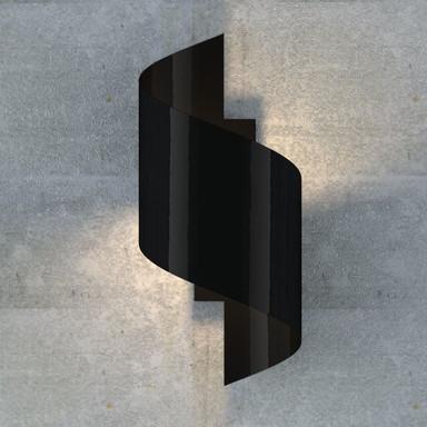 famlights   Wandleuchte Tessa aus Metall in Schwarz G9 max.20W