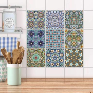 Fliesenaufkleber Set - Orientalisches Mosaik