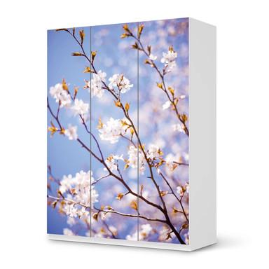 Folie IKEA Pax Schrank 201cm Höhe - 3 Türen - Apple Blossoms- Bild 1