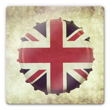 Glasbild Britischer Kronkorken
