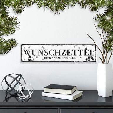 Hartschaum-Dekoschild Wunschzettel...