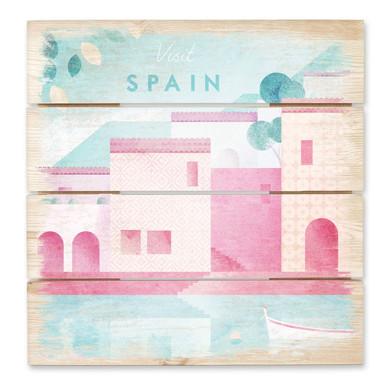 Holzbild Rivers - Spanien