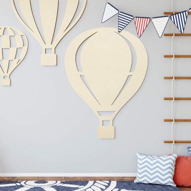 Holzdeko Pappel - Heissluftballon