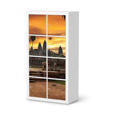 Klebefolie IKEA Expedit Regal 8 Türen - Angkor Wat- Bild 1