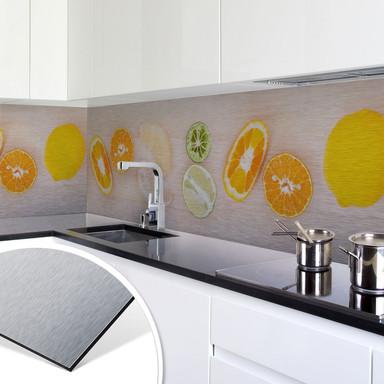 Küchenrückwand - Alu-Dibond-Silber - Limonaden Rezept