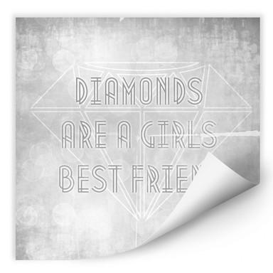 Wallprint Diamonds are a Girls best Friend