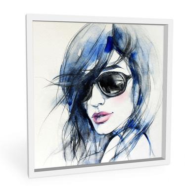 Wandbild I wear my Sunglasses - quadratisch
