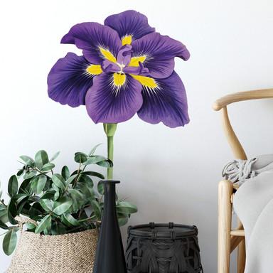 Wandtattoo Garten Stiefmütterchen - lila