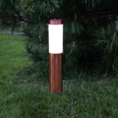 Erdspiessleuchte Cordoba in kupfer, inkl. Sensor und LED