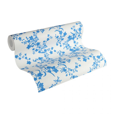 Esprit Home Vliestapete Romantic Botanics blau, creme