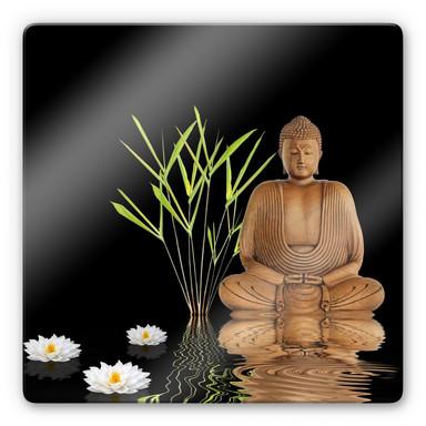 Glasbild Zen Buddha