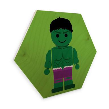 Hexagon - Holz Birke-Furnier Gomes - The Hulk Spielzeug