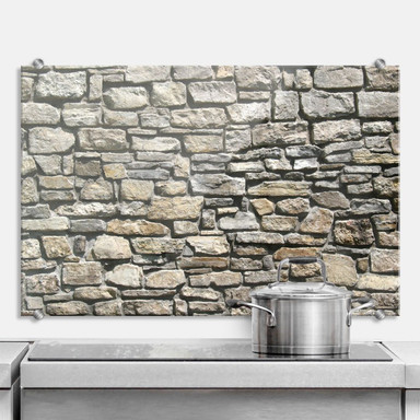 Spritzschutz Natursteinmauer