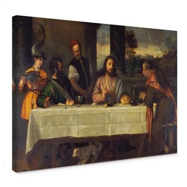 Leinwandbild Tizian - Das Mahl in Emmaus - Bild 1
