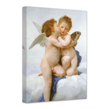 Leinwandbild William Adolphe Bouguereau - Der erste Kuss