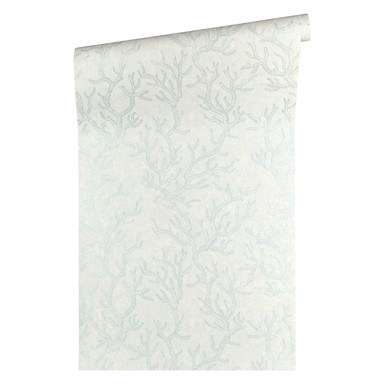 Versace wallpaper Tapete Les Etoiles de la Mer blau, metallic