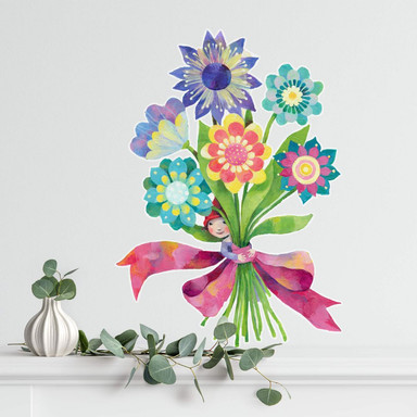 Wandtattoo Blanz - Blumenstrauss