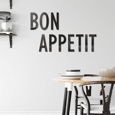 Acrylbuchstaben Bon Appetit