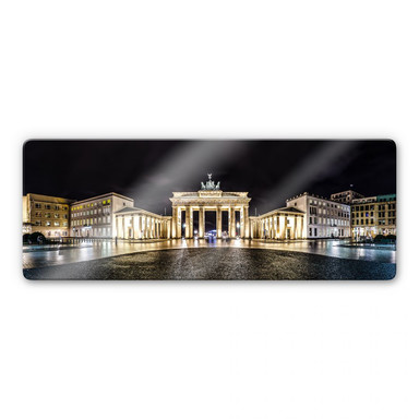 Glasbild Brandenburger Tor - Panorama